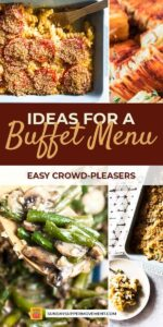 Buffet Menu Ideas Pin Image