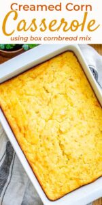 Save baked creamed corn casserole on pinterest for later!