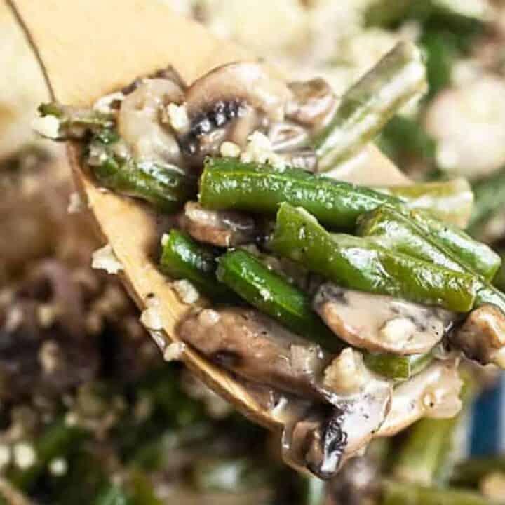 Gluten-free meals: green bean casserole