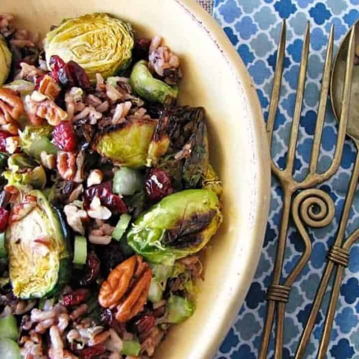 Best Holiday Salads: Roasted Brussels Sprouts and Wild Rice Salad