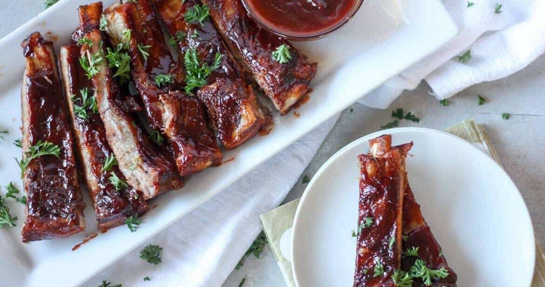 bourbon barbecue pork ribs