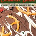 Chocolate bark recipe pin image