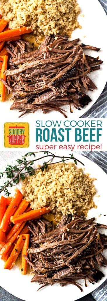 Easy Slow Cooker Roast Beef Recipe on Pinterest