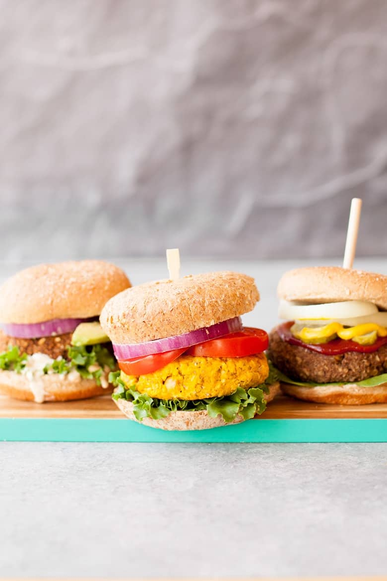 3 Awesome Veggies Burgers