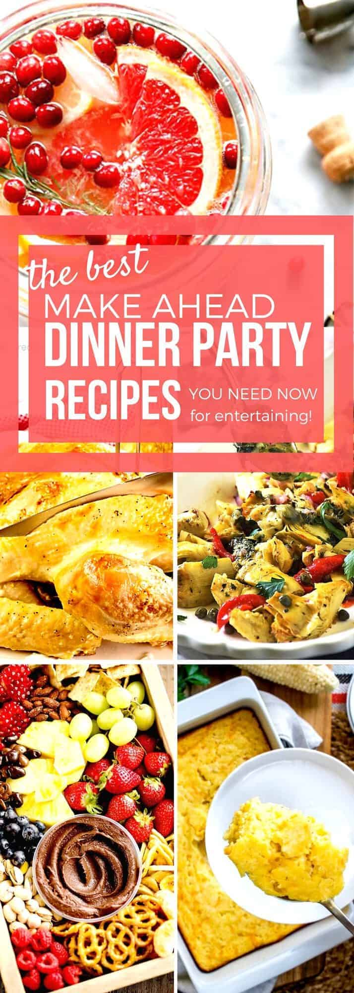 Entertaining just got easier with our collection of Make Ahead Dinner Party Recipes! Whether you are hosting a holiday party for Christmas or New Year's Eve or a special birthday bash, you'll save time and have less stress with these make ahead recipes. These recipes are time saving treasures! #SundaySupper #MakeAheadRecipes #HolidayRecipes #RecipeCollection