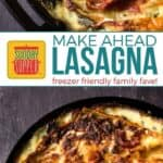 Healthier Make Ahead Lasagna to Freeze on Pinterest