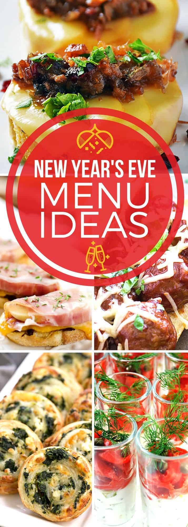 The New Year is upon us! Our New Year's Eve menu ideas have got you covered for all of the party recipes you'll need. Whether you're serving a handful of people or a big party, these no-fuss, tasty appetizer recipes make the perfect crowd pleasers!  #SundaySupper #HolidayRecipes #RecipeCollection #AppetizerRecipes #PartyRecipes
