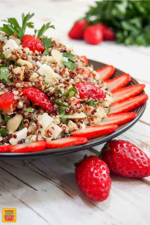 Strawberry Quinoa Salad #SundaySupper