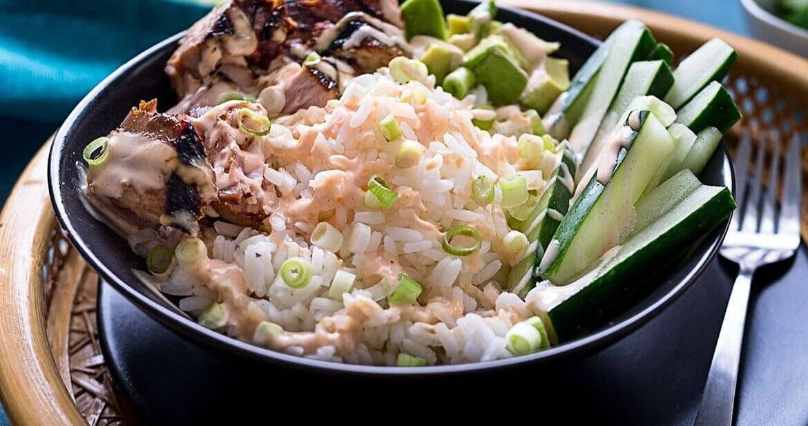 Tuna Rice Bowl with Yum Yum Sauce #SundaySupper