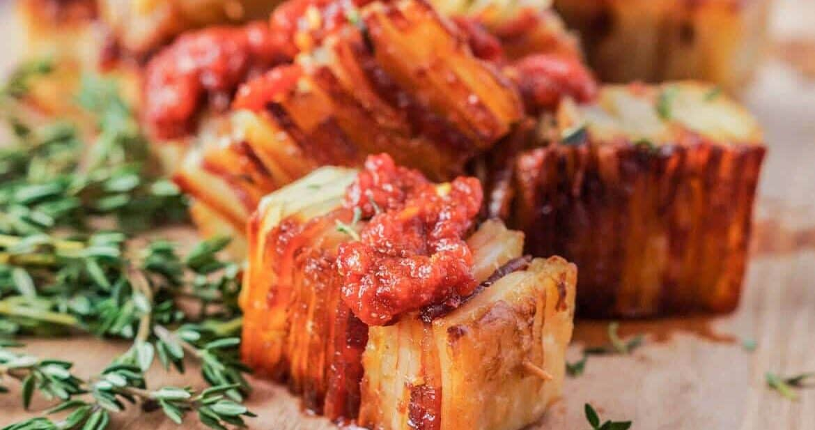 Potato Pave with Bacon and Parmesan