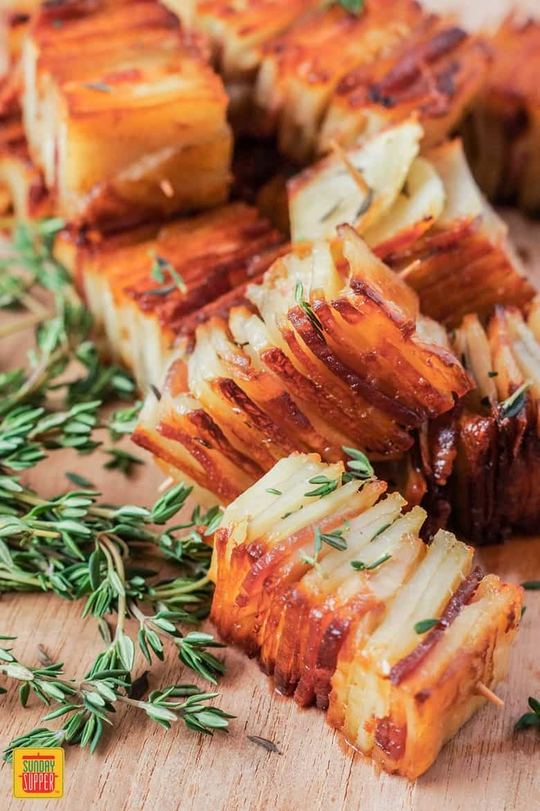 Potato Pave with Bacon and Parmesan - easy recipes for a dinner party