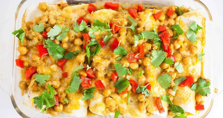 Vegetarian Enchilada Recipe #SundaySupper