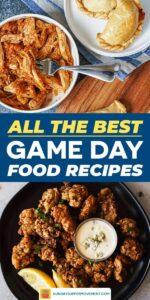 Easy Football Foods Recipe pin image
