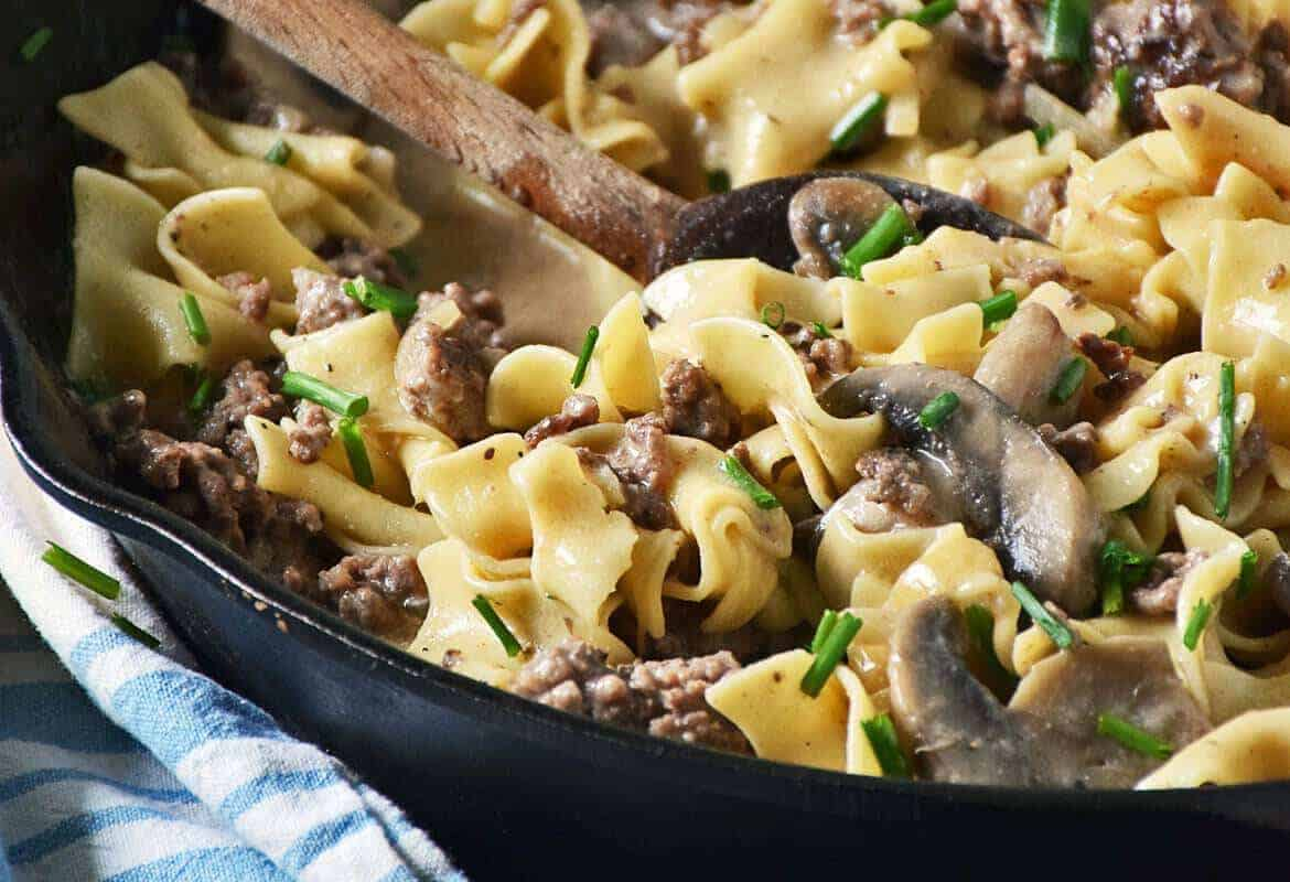 Ground Beef Stroganoff Skillet Recipe