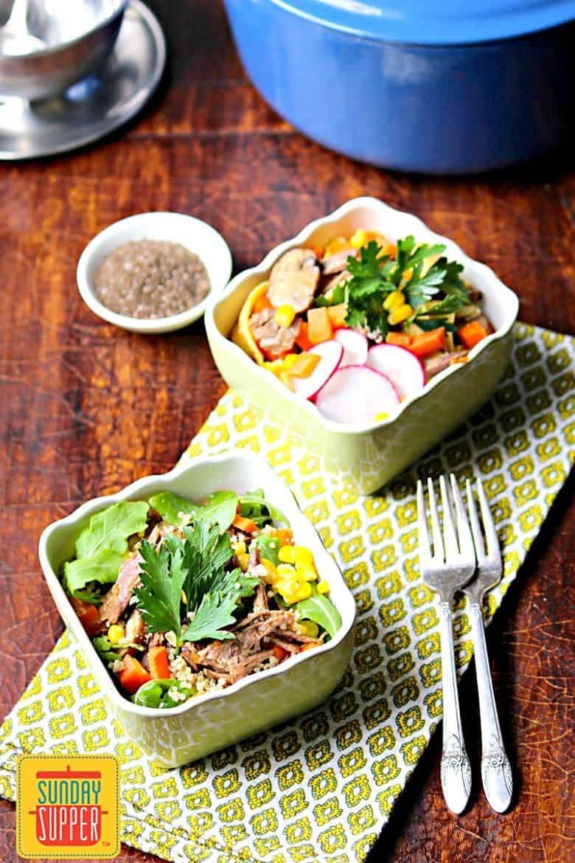 Easy Beef Marsala Bowls