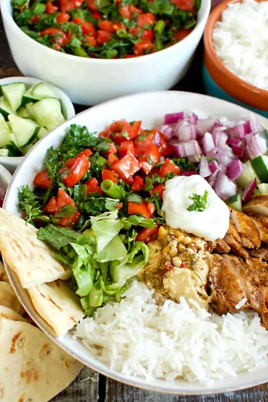 Chicken Shawarma Rice Bowls