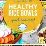 Healthy Rice Bowls pin image