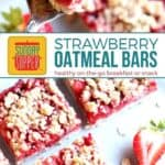 Healthy Strawberry Oatmeal Bars on PInterest