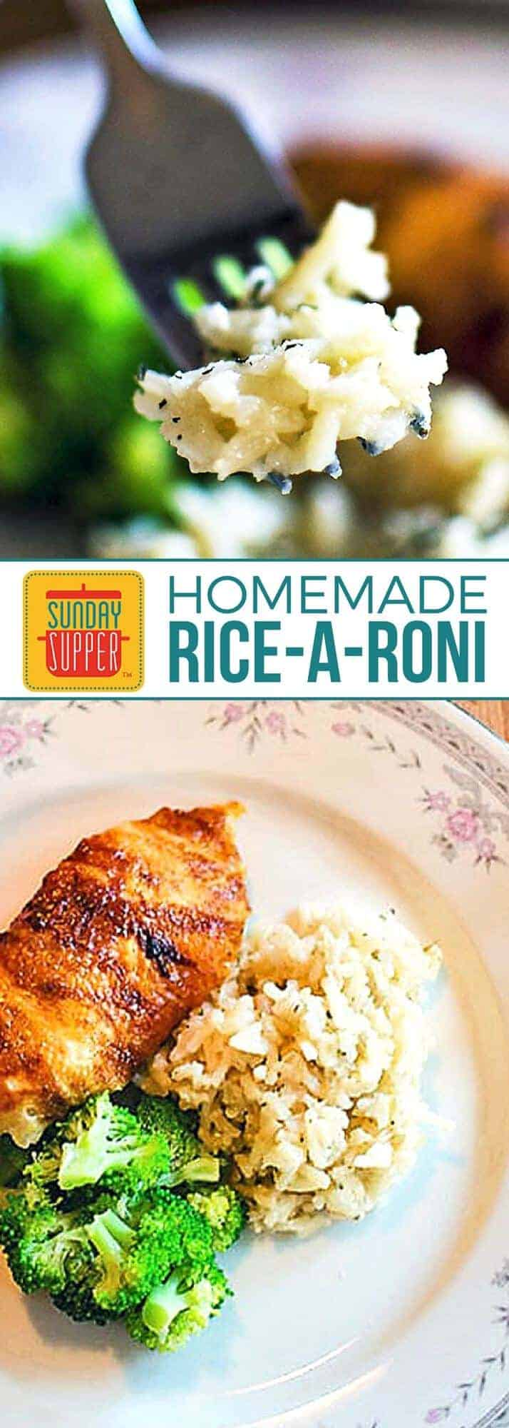 Make Rice-A-Roni from scratch with our Homemade Rice-A-Roni recipe! It's just as quick and easy as the popular box mix, but this version has less ingredients and is gluten free too! Use this homemade version in your favorite Healthy Rice Bowls or as a side dish recipe. It's versatile enough to use with any protein and tastes great too! #SundaySupper #GlutenFreeRecipes #HealthyRecipes #HomemadeRecipes #CopycatRecipes