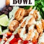 Shrimp Mexican rice bowl pin image