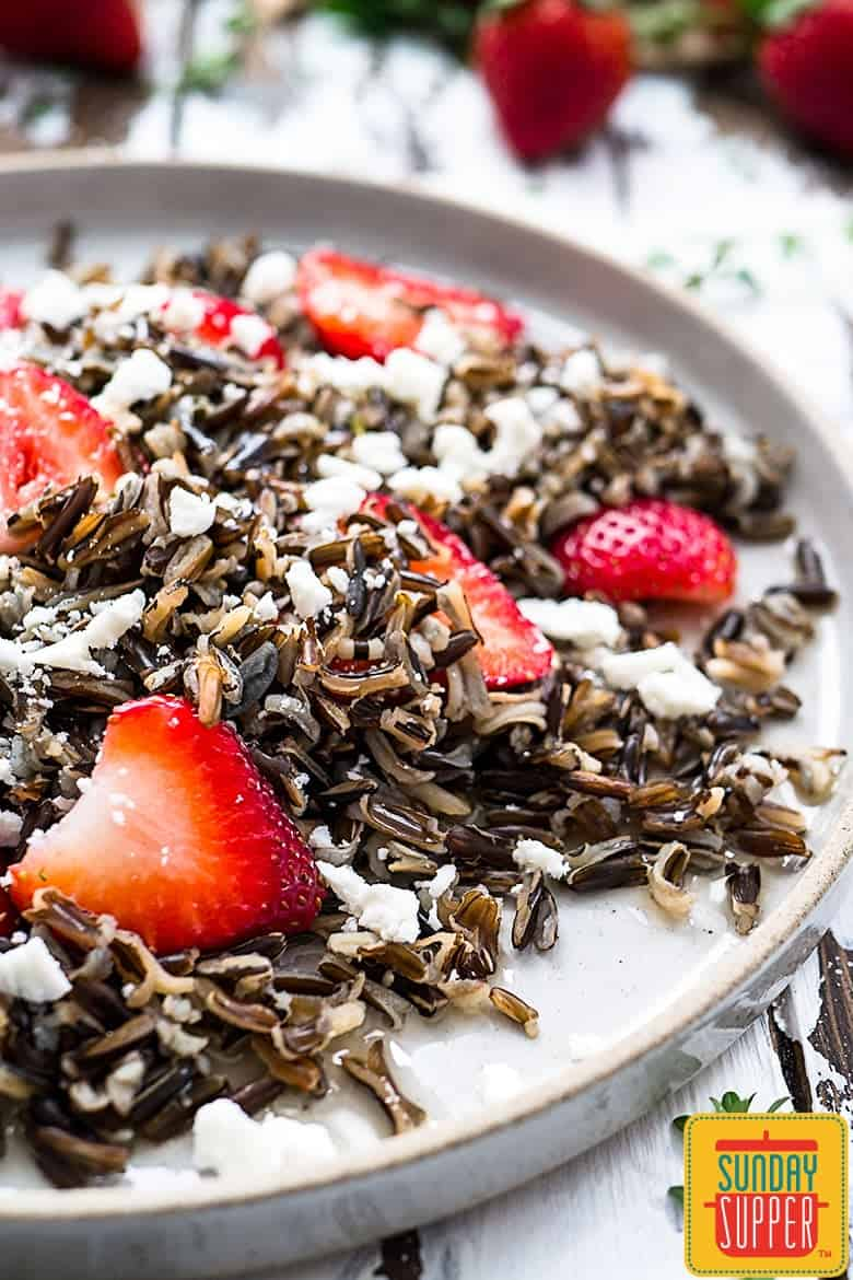Wild Rice Salad with Strawberries #SundaySupper