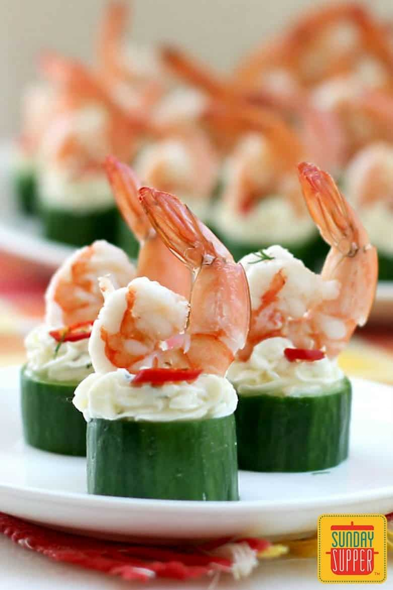 Cucumber Shrimp Cups