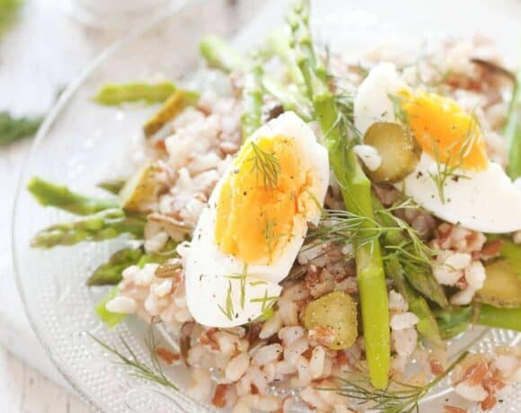 Asparagus Egg Rice Salad