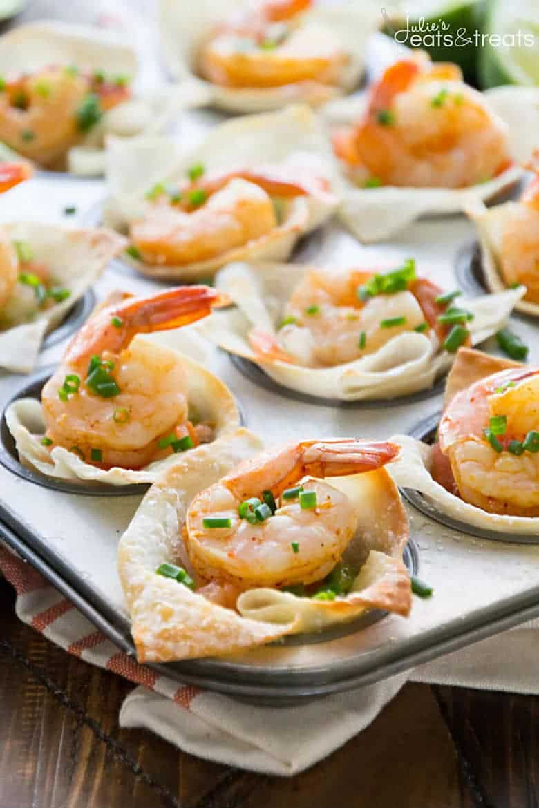 Light Tex Mex Shrimp Wonton Cups
