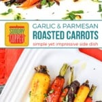 Garlic Parmesan Roasted Carrots on Pinterest