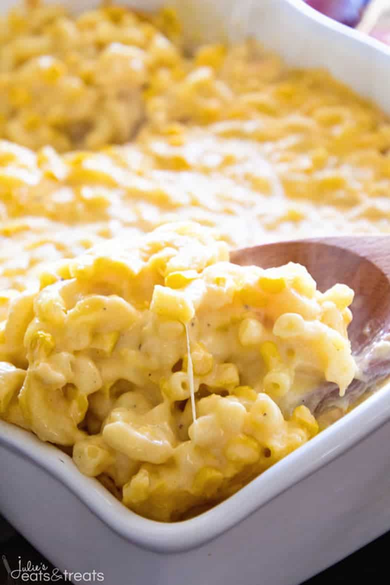 Creamy Corn Macaroni and Cheese Casserole