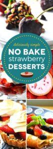 No Bake Strawberry Desserts #SundaySupper