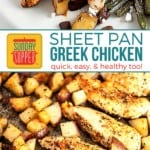 Sheet Pan Greek Chicken and Potatoes on Pinterest