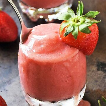 Strawberry Dole Whip No Bake Dessert