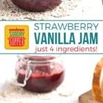 Strawberry Vanilla Jam on Pinterest