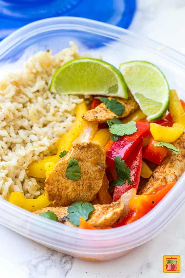 Chicken Fajita Meal Prep Bowls