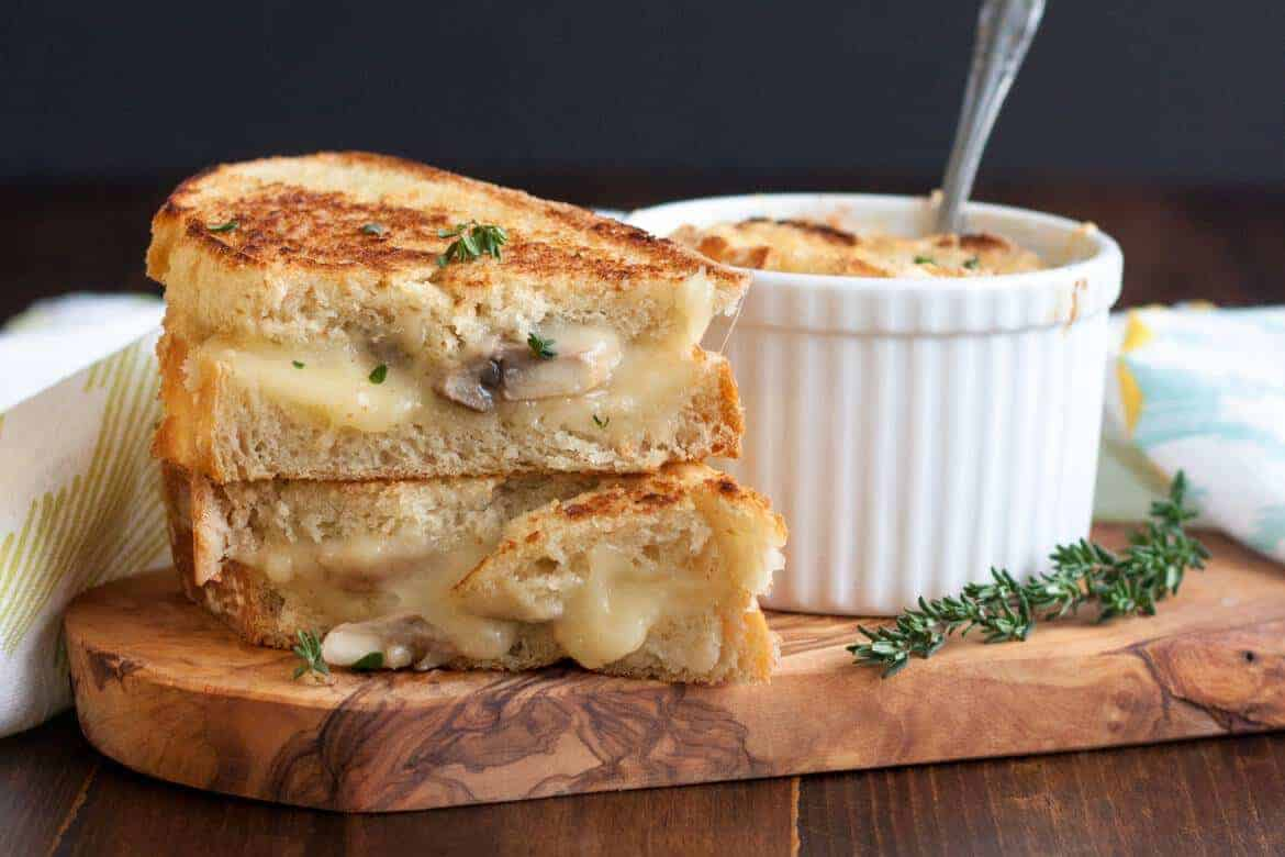 French Onion Soup with Mushroom Grilled Cheese is a comforting meal, perfect for a chilly night. It can be customized easily to leave everyone in the family happy.