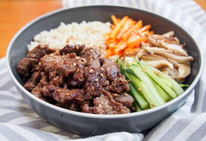 beef bulgogi meal prep bowl