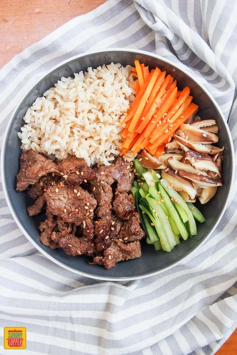 beef bulgogi meal prep bowl ready to eat