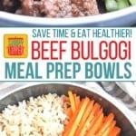 Beef Bulgogi Meal Prep Bowls on Pinterest