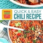 Ground Beef Chili Recipe on Pinterest