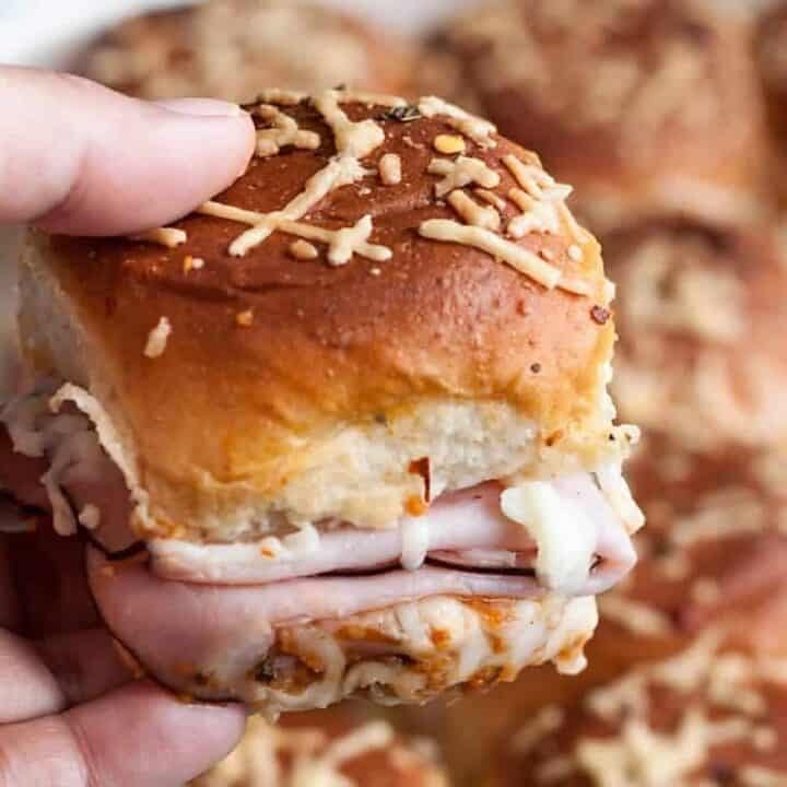 Hawaiian Pizza Pull Apart Sliders