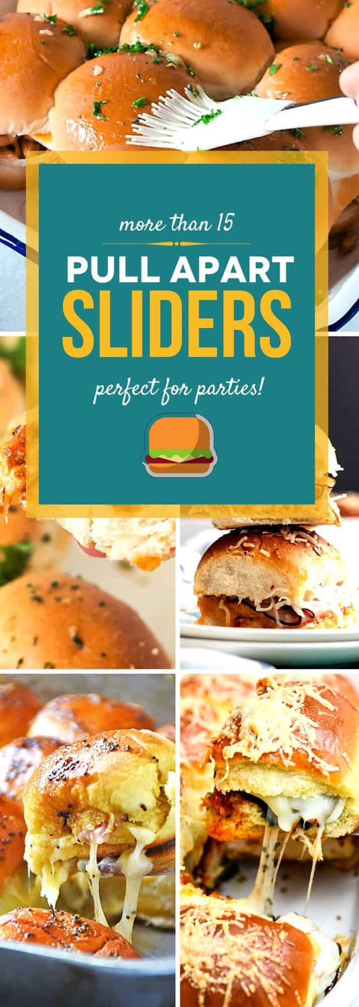 Pull apart sliders are perfect for feeding a crowd! Whether you're throwing a party or you just want to enjoy a fun dinner with your family, this collection of slider recipes gives you plenty of fun and easy sandwich ideas to choose from. Prepare, bake, and serve your favorite pull apart sliders in just minutes! #SundaySupper #partyfood #sandwich #recipeideas #reciperoundup #pullapartsliders
