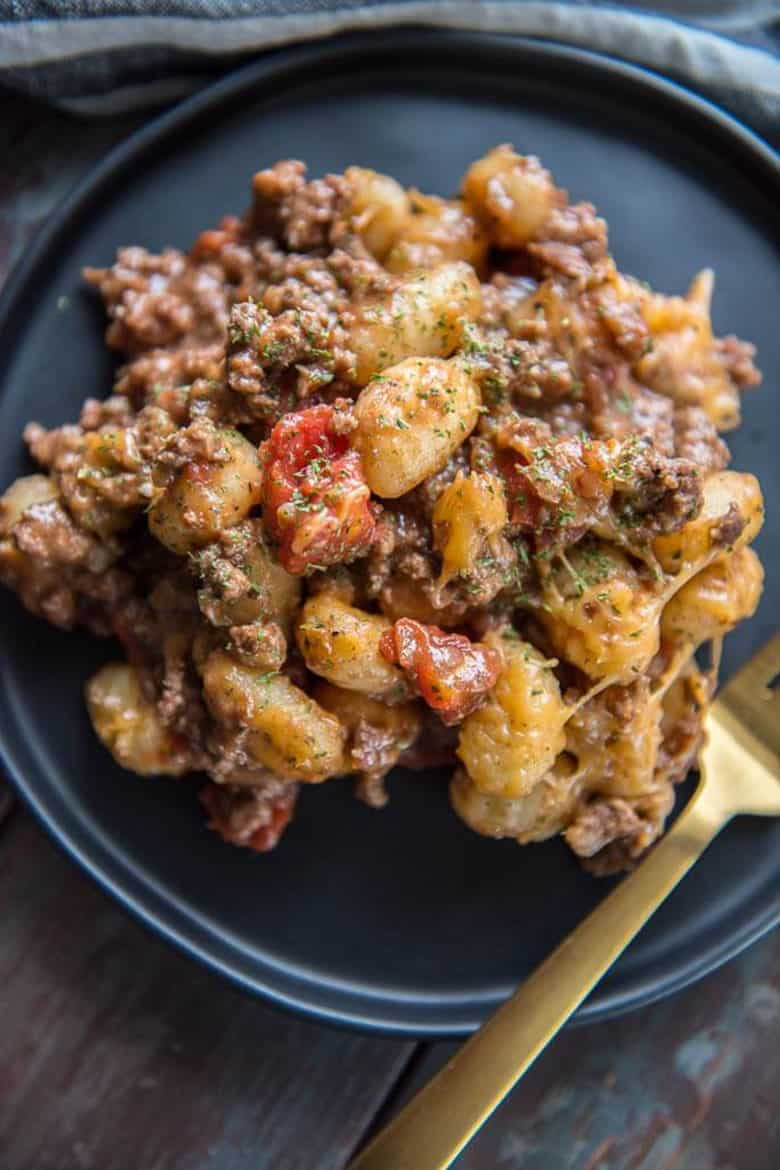 Easy Cheeseburger Gnocchi Skillet