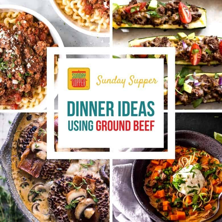 8 More Delicious And Easy Ground Beef Dinner Ideas: Dinner Ideas Using Ground Beef #SundaySupper