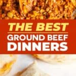 Ground beef recipes pin image
