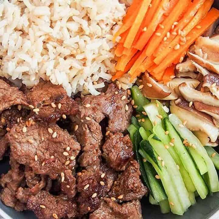 beef bulgogi meal prep bowl