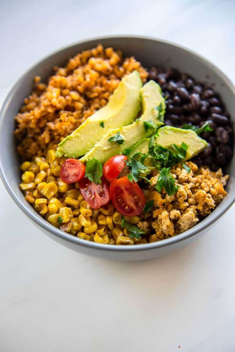 Turkey Taco Bowls with Cauliflower Rice