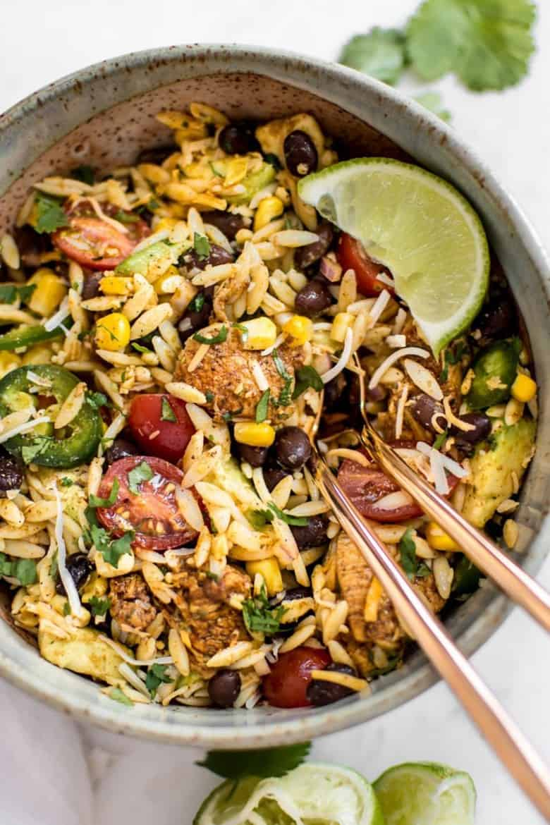 Mexican Chicken Salad with Orzo