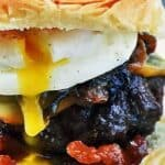 Poached egg burger recipe pin