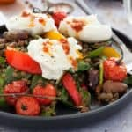 Buffalo Mozzarella Salad with Lentils